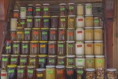 Kruiken met jam en honing Stock Afbeelding