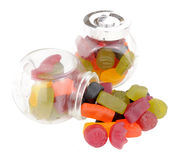 Kruiken van de Snoepjes van de Wijngom Stock Foto's