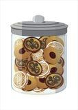 Kruikhoogtepunt van koekjes Stock Afbeelding