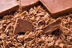 Kruimel van chocolade Stock Afbeeldingen