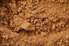 Kruimelig cacaopoeder voor het koken mooie mening royalty-vrije stock foto's