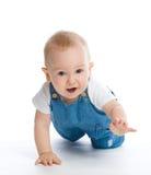 Kruipende babyjongen royalty-vrije stock foto