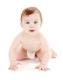 Kruipende babyjongen #2 Stock Afbeeldingen
