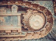 Kruippakjegraafwerktuig Ijzerertsmijnen Liberia, West-Afrika Stock Afbeelding