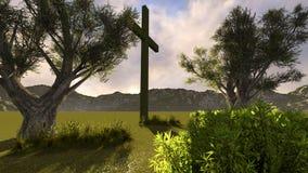Kruis in aard Royalty-vrije Stock Afbeelding