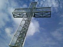 Kruis bij de Stempelkom van de Duivel stock afbeeldingen