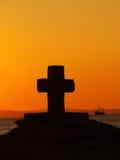 Kruis bij zeilboot  Royalty-vrije Stock Afbeelding