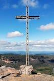 Kruis bovenop de Heuvel van Inacio van de Vader Stock Afbeeldingen