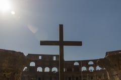Kruis in de hemel Stock Foto's