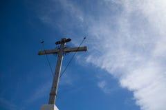 Kruis in de hemel Stock Fotografie