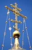 Kruis in de Kerk van de Verlosser op Gemorst Bloed in Heilige Petersburg Royalty-vrije Stock Afbeelding