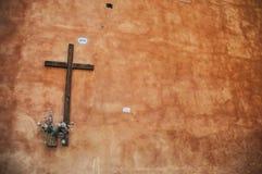 Kruis De straten van Rome Royalty-vrije Stock Foto's