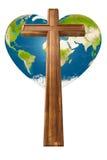 Kruis en hart Royalty-vrije Stock Foto