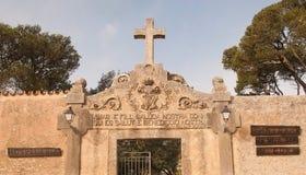 Kruis en ingangsinschrijving Royalty-vrije Stock Foto's