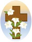 Kruis en Lelies Royalty-vrije Stock Afbeelding