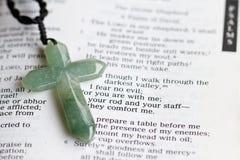 Kruis en Psalm 23 Royalty-vrije Stock Foto