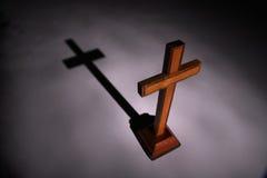 Kruis en schaduw. stock fotografie