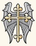 Kruis en vleugels stock illustratie