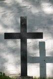 Kruis en zijn schaduw Stock Foto's