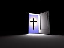 Kruis. Geloof naast stock illustratie