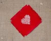 Kruis gestikt hart Royalty-vrije Stock Foto's