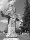 Kruis in grijs Royalty-vrije Stock Fotografie