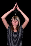 Kruis in handen Stock Fotografie
