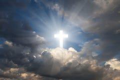 Kruis in hemel royalty-vrije stock foto's
