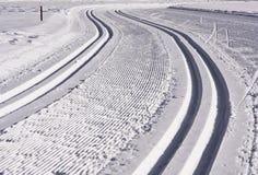 Kruis het Spoor van de Ski van het Land Stock Afbeelding