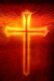 Kruis in het Venster Royalty-vrije Stock Fotografie