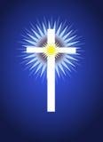 Kruis met erachter het Uitstralen van Licht Vector Illustratie