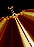 Kruis met geel   stralen Stock Afbeeldingen