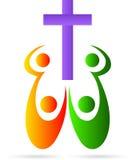 Kruis met mensen Vector Illustratie