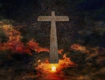 Kruis met Nieuwe Testament Stock Foto's