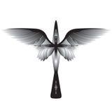 Kruis met vleugels royalty-vrije illustratie