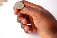 Kruis of munt? Royalty-vrije Stock Foto's