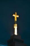 Kruis in nacht Royalty-vrije Stock Fotografie
