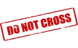 Kruis niet stock foto's