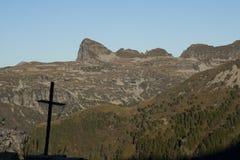 Kruis op de berg Royalty-vrije Stock Foto