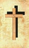 Kruis op de muur. Royalty-vrije Stock Afbeeldingen