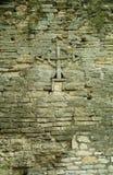 Kruis op de muur Royalty-vrije Stock Foto's