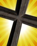 Kruis op de Stralen van de Zon stock illustratie