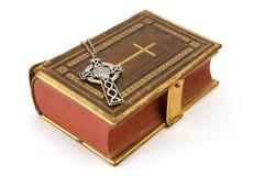 Nadruk op Keltisch Kruis Stock Foto