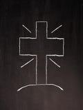 Kruis op een bord Stock Afbeeldingen
