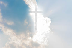 Kruis op hemel Royalty-vrije Stock Foto
