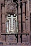 Kruis op kerk Cusco royalty-vrije stock foto's