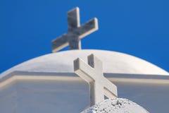 Kruis op santorini Royalty-vrije Stock Afbeelding