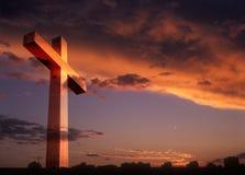 Kruis over een land. Royalty-vrije Stock Afbeelding