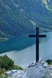 Kruis over meer Stock Foto's