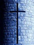Kruis in steen Royalty-vrije Stock Afbeeldingen